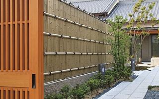 人工強化竹垣